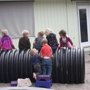 Preschool kids having fun and building social skills