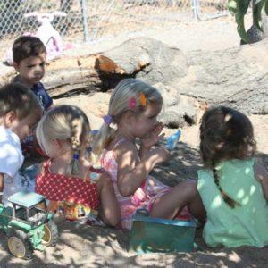Five preschool kids finding harmony in their friendship