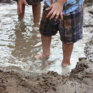 Preschool muddy play